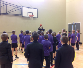 Pierre Henry Fontaine visits Thetford academy 1